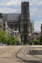 Street, Tram Track In The Cent...