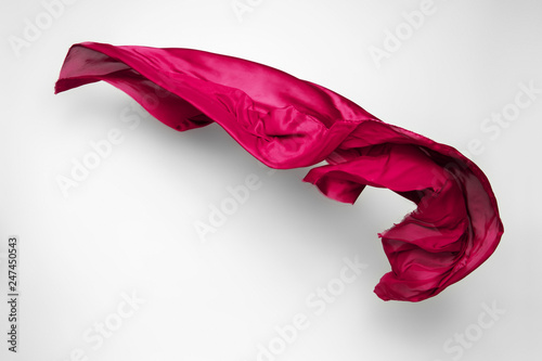 Poster Tissu abstract red fabric in motion