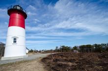 Nauset Beach Light House Is A Restored Lighthouse On The Cape Cod National Seashore Near Eastham, Massachusetts