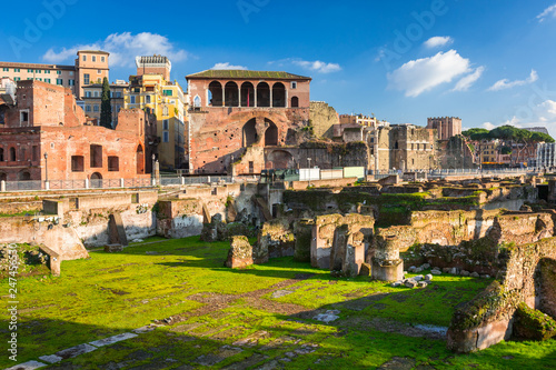 Fotobehang Centraal Europa Ruins of the Trajan Forum in Rome, Italy