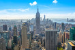 Beautiful skyline of Midtown Manhattan from Top of the Rock - New York, USA
