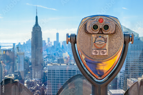 Beautiful skyline of Midtown Manhattan from Top of the Rock  - New York, USA Fototapeta