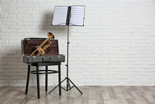 Trumpet, Chair, Case And Note ...