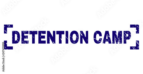 Fotografie, Obraz  DETENTION CAMP tag seal print with distress style