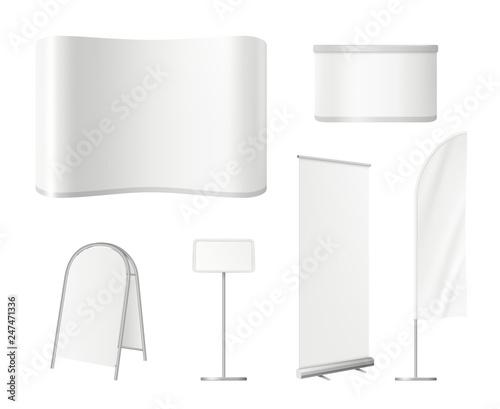 Fotografia, Obraz Promotional blank stands