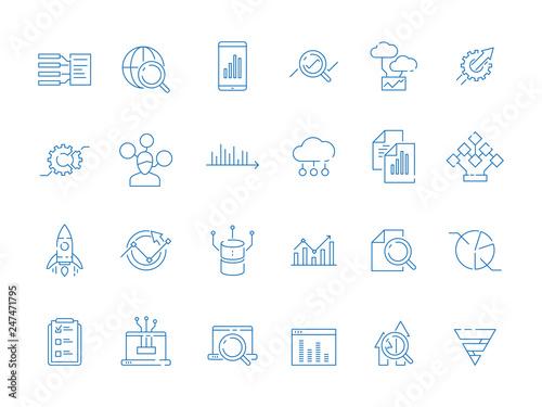 Fotografie, Obraz  Data analysis symbols