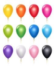 Colored Balloon. Birthday Part...