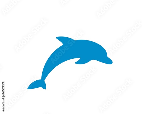 Dolphin vector silhouette Wallpaper Mural