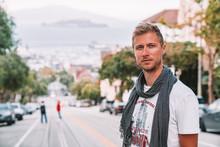 Young Man Exploring San Franci...