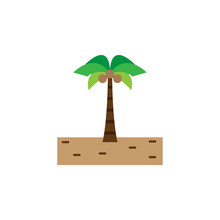 Brazilian Carnival, Palm Tree Color Icon. Element Of Brazilian Carnival Icon For Mobile Concept And Web Apps. Detailed Brazilian Carnival, Palm Tree Icon Can Be Used For Web