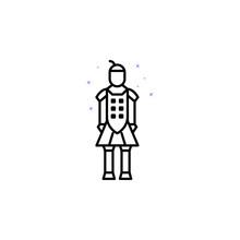 Army, Soldier, China Culture, Statue Icon. Element Of China Culture Icon. Thin Line Icon For Website Design And Development, App Development. Premium Icon