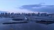 タイムラプス - 東京の夕方の都市風景 チルトアップ
