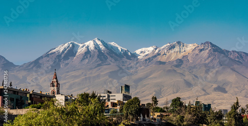 Andes Behind Arequipa Peru Canvas Print