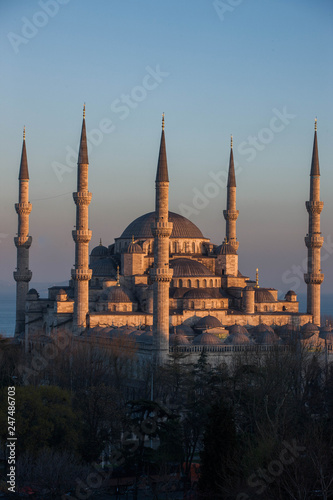 Printed kitchen splashbacks Turkey ブルーモスク イスタンブール トルコ