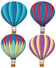 Set Of Hot Air Balloon