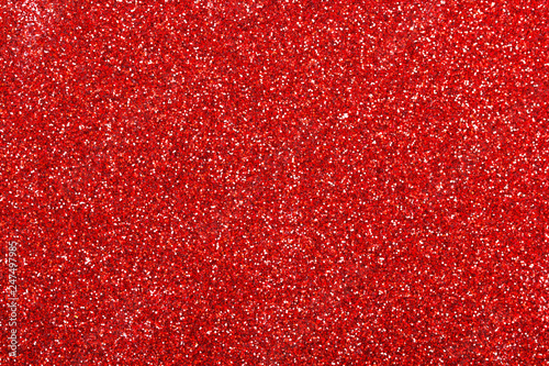 Red glitter texture background - 247497985