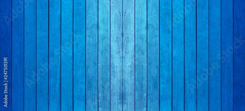 Photo  lamelles de bois bleu