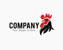 Elegant Vector Angry Rooster H...
