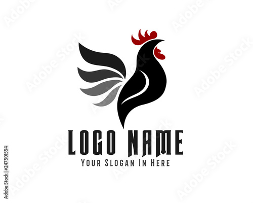 elegant drawing vector crowing rooster logo design inspiration buy this stock vector and explore similar vectors at adobe stock adobe stock elegant drawing vector crowing rooster