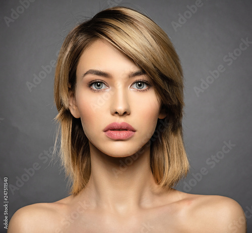 Valokuva  Woman with beauty face and clean skin.  Sexy blonde woman.