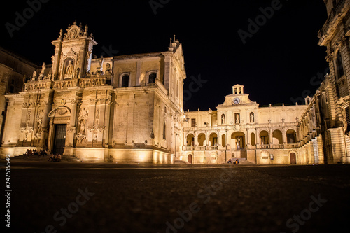 Fotobehang Historisch geb. Lecce Piazza del Duomo