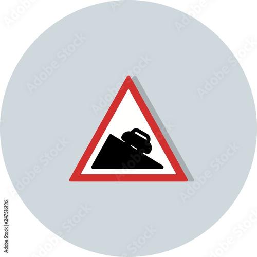 Fotografie, Obraz  Vector Dangerous descent Icon