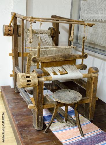 Fotografie, Obraz  Old wooden loom Karelia