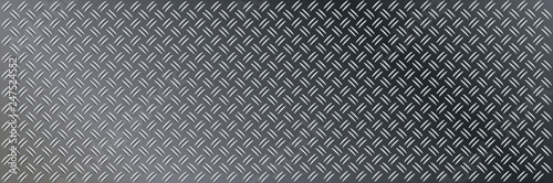 Photo Anti slip gray metal plate with diamond patter