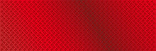 Anti Slip Red Plate With Diamond Patter