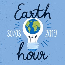 Earth Hour Campaign Banner Wit...