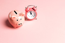 Piggy Bank And Classic Alarm C...