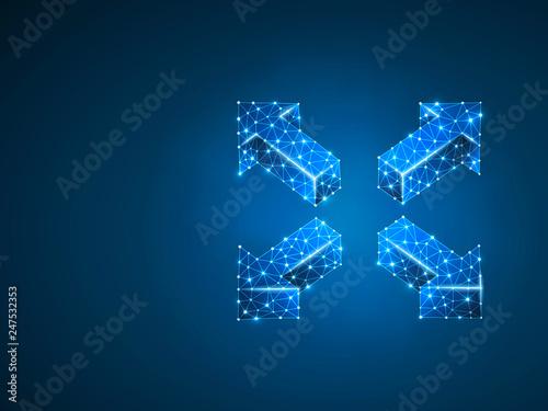 Arrow cross, extend, resize, Cross arrow sign Wallpaper Mural