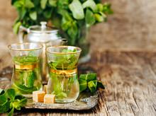Mint Tea With Sugar Cubes