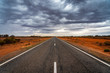 canvas print picture - Outback roads in New South Wales, Australia