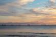 Silhouette of Cargo ships at sea, Western Australia, Australia