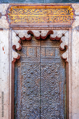 Wall Murals Nepal incredibly beautiful and majestic doors in an ancient mosque
