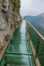 Glass Sky Pathway In Tianmenshan Nature Park - China