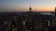 4K panoramic view of Manhattan, New York City, USA