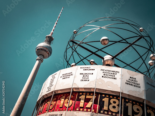 Berlin Television Tower, low angle Canvas Print