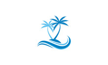 Coconut Tree And Wave Vector