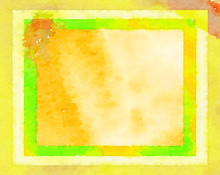 Digital Paint-like Illustration Abstract Background Of  Yellow Frame Watercolor Texture Style