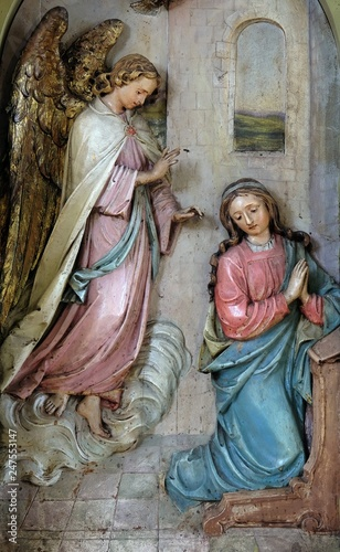 Annunciation of the Virgin Mary, altarpiece in the Basilica of the Sacred Heart Fototapeta