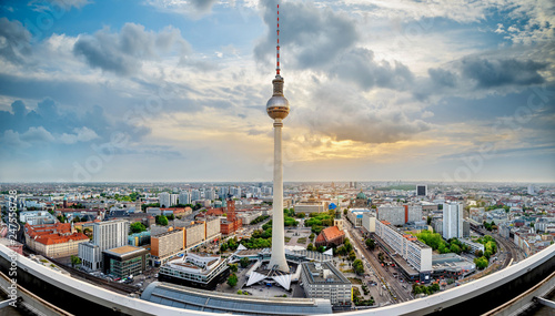 Poster Berlin panoramic view at the berlin city center