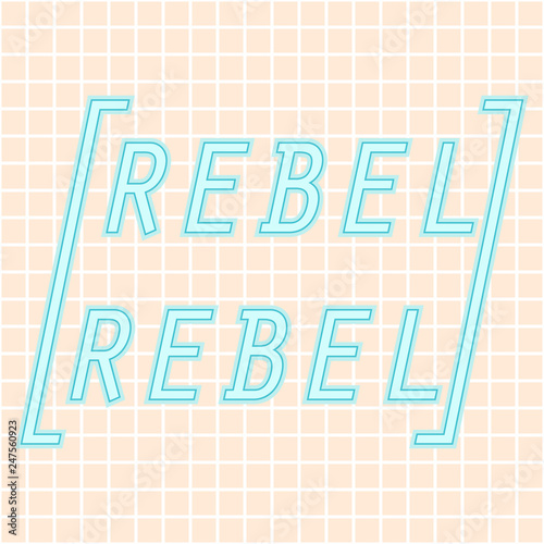 Foto op Plexiglas Retro sign retro typography poster