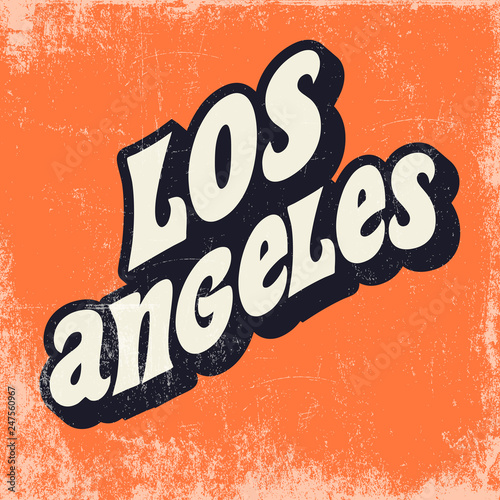 Photo sur Aluminium Retro sign los angeles poster