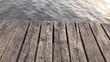Wasser am Bootssteg