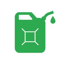 Green Jerrycan Vector Icon