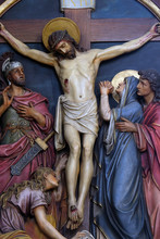 12th Stations Of The Cross, Jesus Dies On The Cross, Basilica Of The Sacred Heart Of Jesus In Zagreb, Croatia