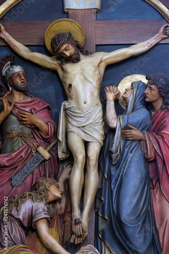 12th Stations of the Cross, Jesus dies on the cross, Basilica of the Sacred Hear Canvas-taulu
