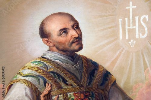 Saint Ignatius of Loyola altarpiece in the Basilica of the Sacred Heart of Jesus Wallpaper Mural